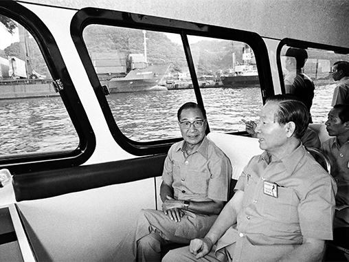 Premier Yu tours Port of Keelung