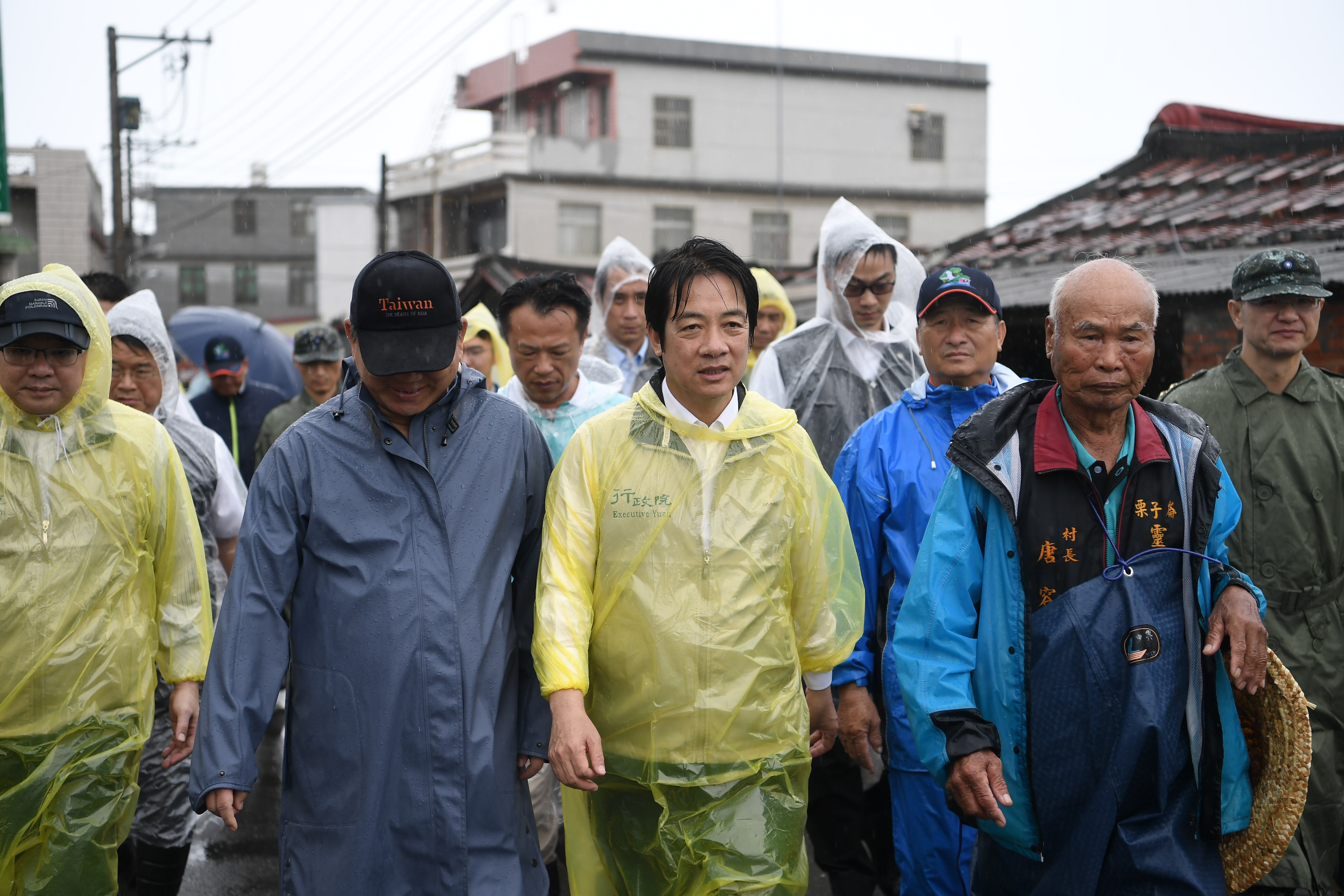 Premier Lai inspects aftermath of flooding in Chiayi County