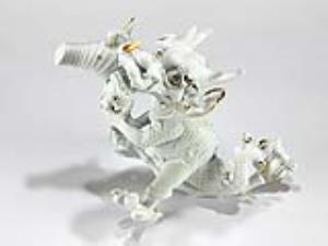 Dragon-horse ceramic white ware