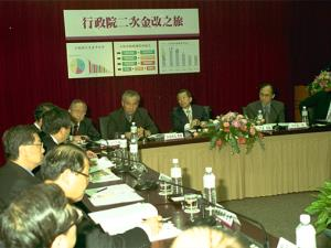Premier Hsieh briefed on financial reform